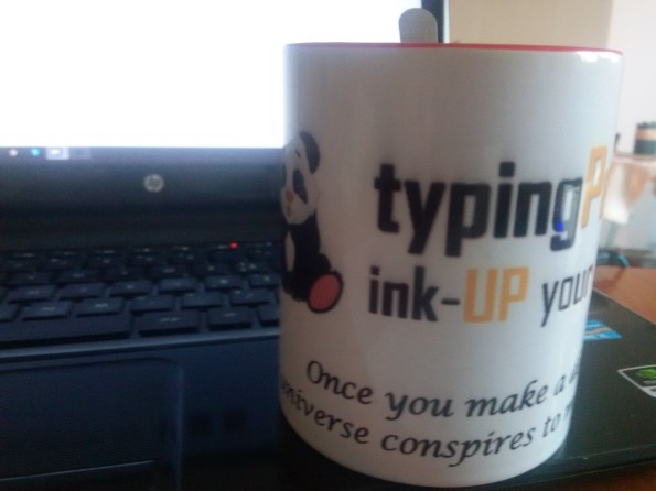 my cup of coffee with typing pandas