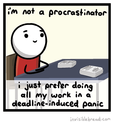 various definitions of procrastination