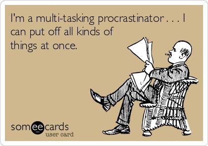 all types of procrastinators